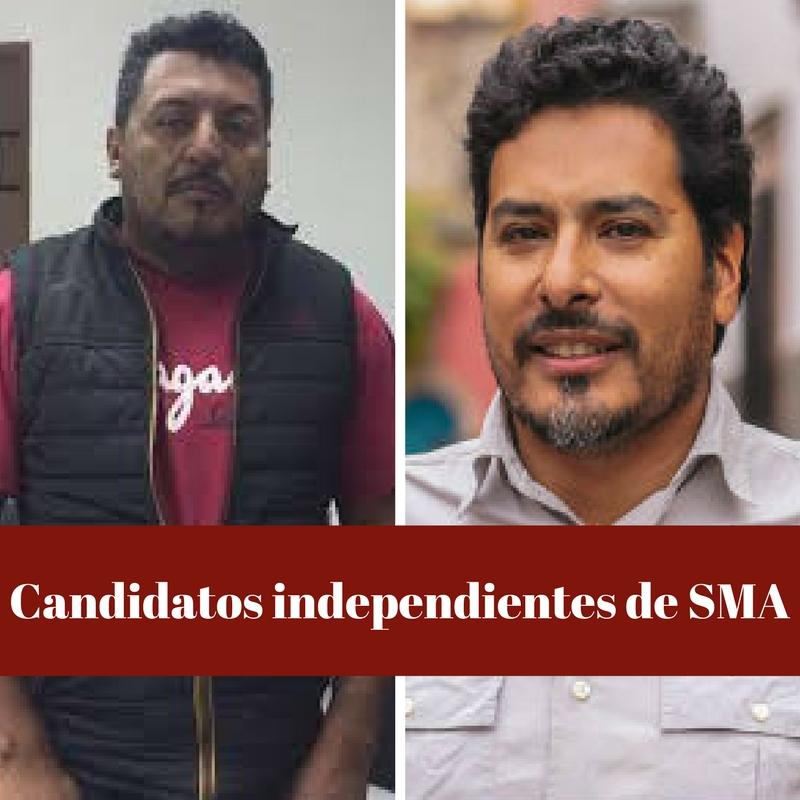 Candidatos independientes de SMA