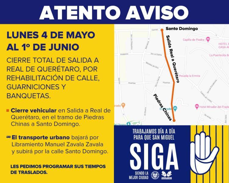 post cierre salida a real de Querétaro